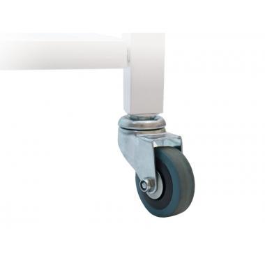 Тележка косметологическая / манипуляционная модель 041 на 3 полки (стекло) с пластиковым лотком