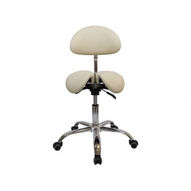 Стул-седло для мастера мод. 4008-1 со спинкой и разделенным сидением