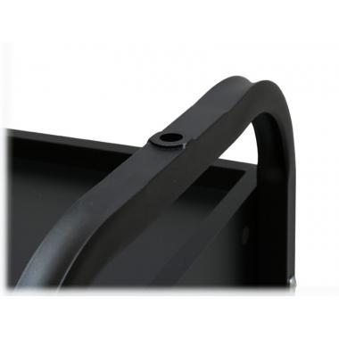 Тележка косметологическая с ящиком и стеклянными полками мод. 009, чёрная