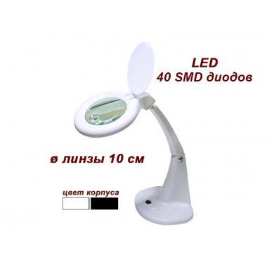 Лампа-лупа настольная мод. 8093-А LED, увеличение 3+12 диопт.