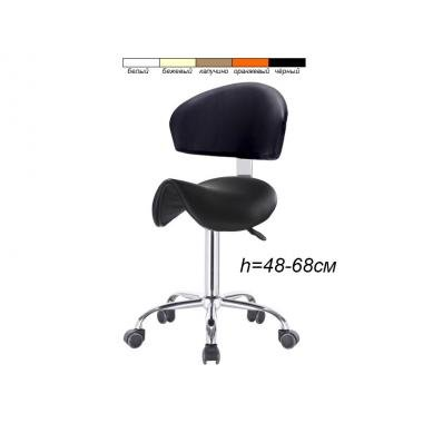 Стул-седло для мастера модель 114 со спинкой