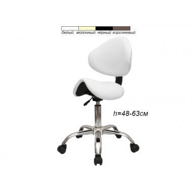 Стул-седло для мастера модель 854A со спинкой