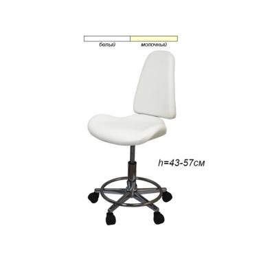 Стул для мастера модель 827 с сиденьем в форме лепестка