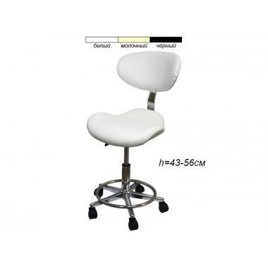 Стул для мастера модель 827А с сиденьем в форме лепестка