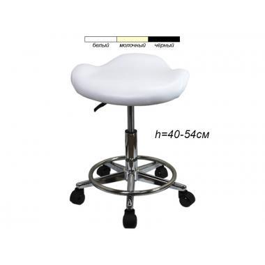 Стул для мастера модель 829 с сиденьем в виде лепестка