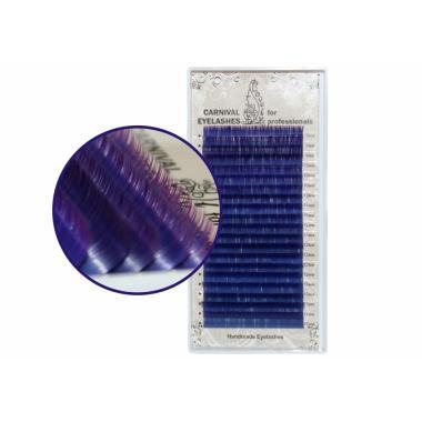 Ресницы двухцветные (Blue-Purple) Lovely - 20 линий - MIX