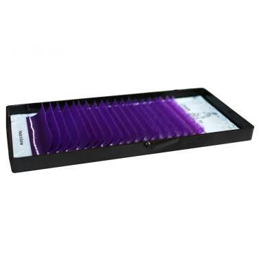 Ресницы фиолетовые (purple) Lovely - 20 линий - MIX