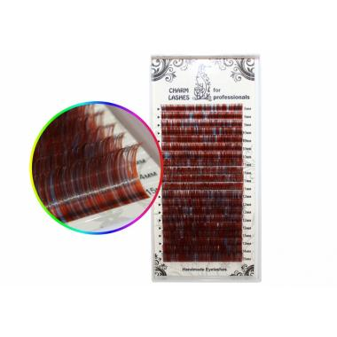 Ресницы колорированные Lovely №6 (Красные) - 20 линий (MIX)