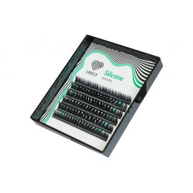 Ресницы чёрные Lovely серия Silicone - 6 линий - MINI