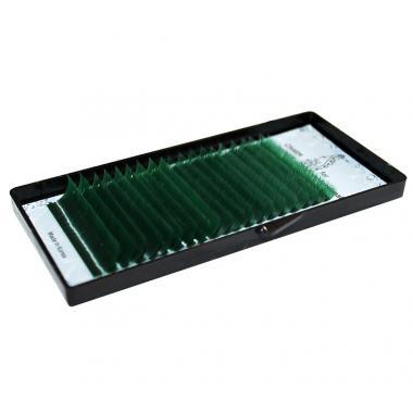 Ресницы зелёные (green) Lovely - 20 линий - MIX