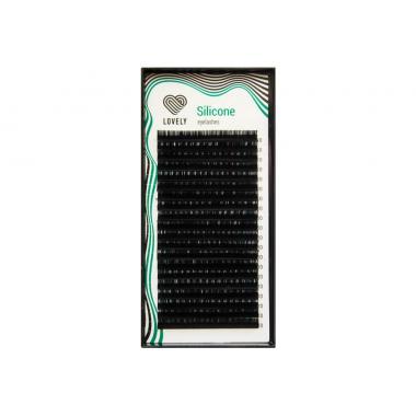 Ресницы чёрные Lovely серия Silicone - 20 линий