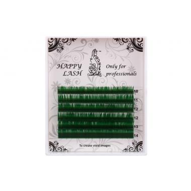 Ресницы зелёные (green) Lovely MINI - 6 линий - MIX