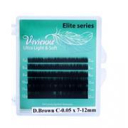 Ресницы Vivienne Elite Ultra черный шоколад (mini)