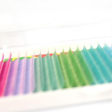 Ресницы Vivienne Fantasy Collection цветной микс «Лагуна»