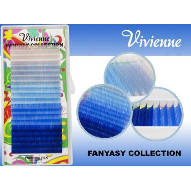 Ресницы Vivienne Fantasy Collection цветной микс «Магия неба»