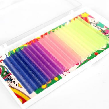 Ресницы Vivienne Fantasy Collection цветной микс «Неон»