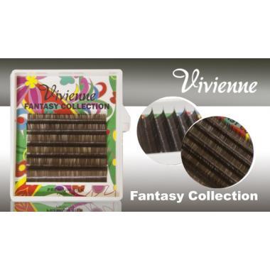 """Ресницы Vivienne Fantasy Collection цветные, """"Серо-коричневый"""""""