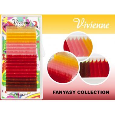 Ресницы Vivienne Fantasy Collection цветной микс «Солнце пустыни»