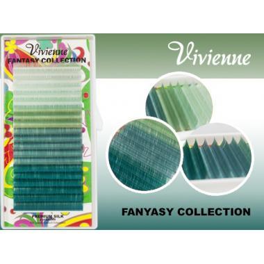 Ресницы Vivienne Fantasy Collection цветной микс «Тайна океана»