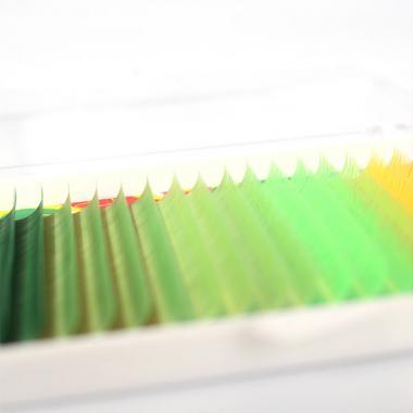 Ресницы Vivienne Fantasy Collection цветной микс «Зеленый рай»