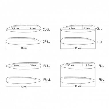 Набор силиконовых бигуди Vivienne, (8 пар)
