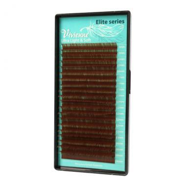 Ресницы Vivienne серии Elite светло-коричневые mix